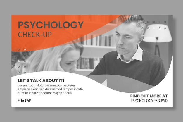 Transparent szablon biura psychologii