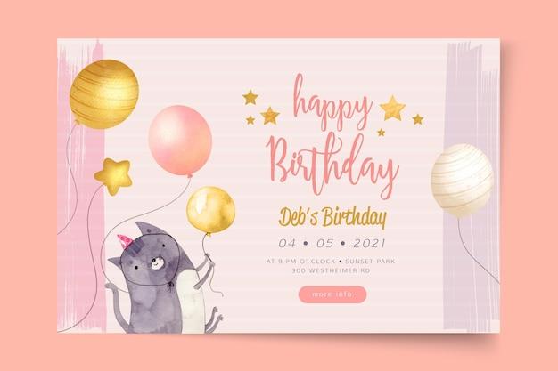 Transparent szablon przyjęcia urodzinowego