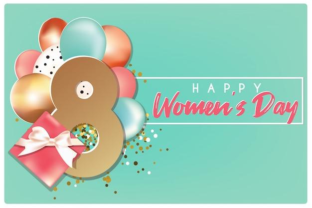 Transparent szczęśliwy dzień kobiet