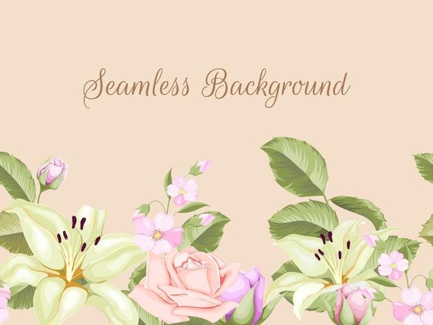 Transparent tło szablon kwiatowy