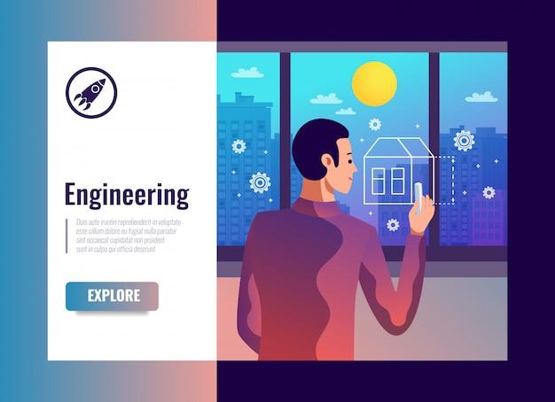 Transparent wektor inżynierii