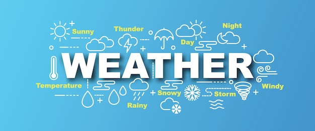 Transparent wektor pogody