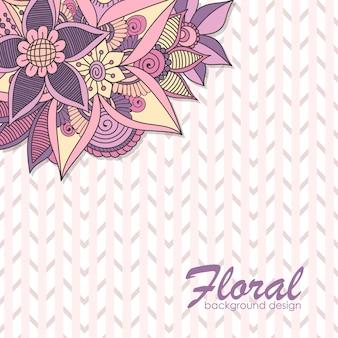 Transparent wektor projekt z różowe i fioletowe kwiaty