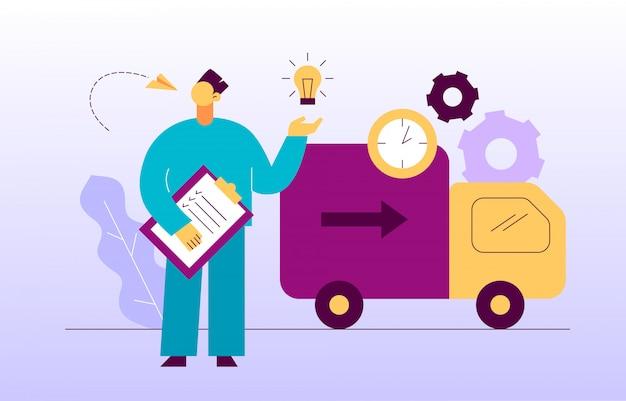 Transparent wektor web design usługi dostawy