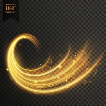 Transparent złoty wektor efekt świetlny