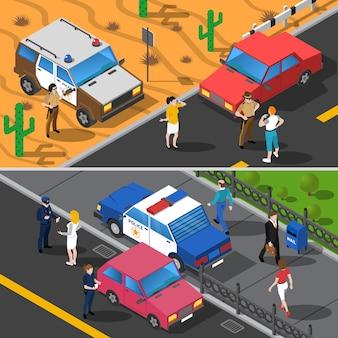 Transparenty policji ludzi