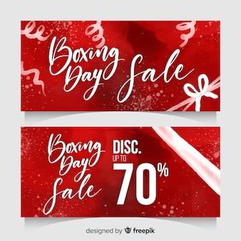 Transparenty sprzedaż boks dzień akwarela