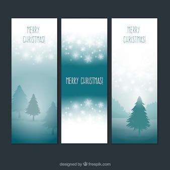 Transparenty świąteczne na tle krajobrazu