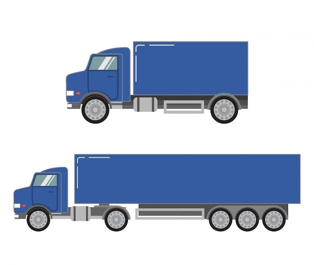 Transport ciężarowy samochodów ciężarowych.