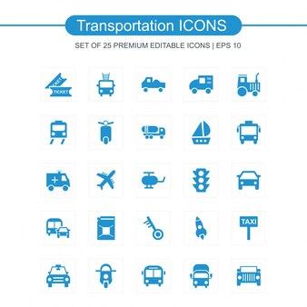 Transport ikony ustaw wektor