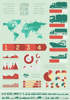 Transport infographic szablon.