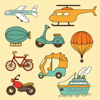 Transport kolekcji wektorowej