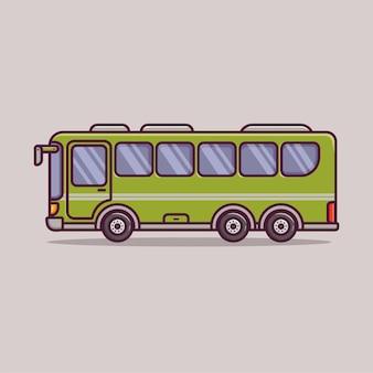 Transport kreskówek autobusem