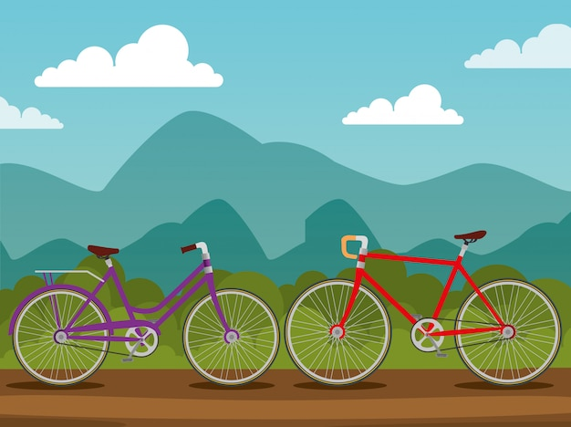 Transport rowerów z kołem i łańcuchem