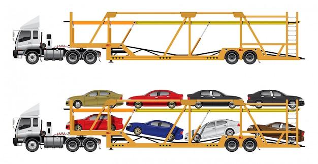 Transport samochodów z przyczepą