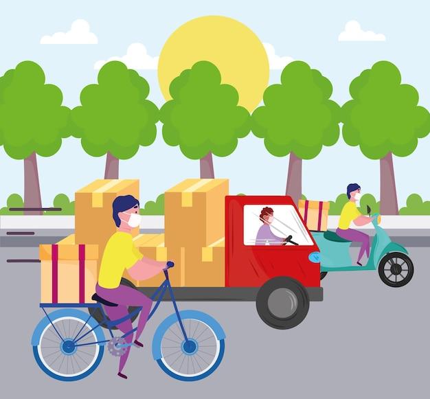 Transport usług dostawy