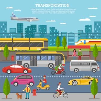 Transport w mieście plakat