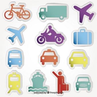 Transportu ikony