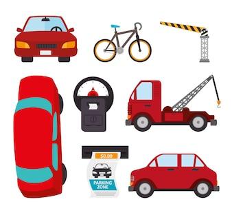 Transportu projekt, wektorowa ilustracja.