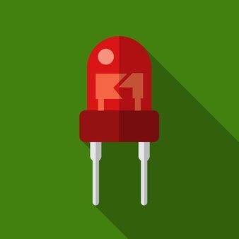 Tranzystor płaski ikona ilustracja na białym tle wektor symbol znak