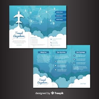 Travel trifold szablon broszury