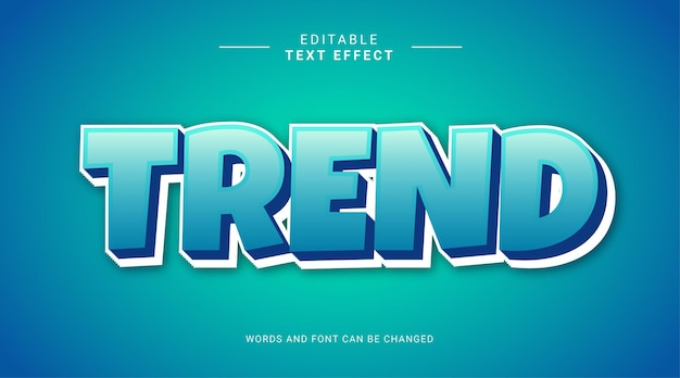 Trend błękitne niebo 3d edytowalny szablon efektu tekstowego