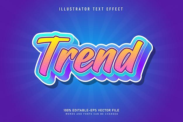 Trend dekoracyjny efekt tekstowy