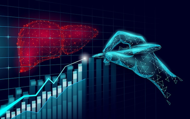 Trend rosnący w medycynie symbol wątroby
