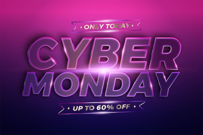 trendy banner promotion, cyber monday.