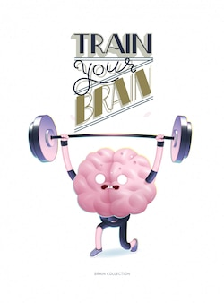 Trenuj swój mózg plakat z napisem