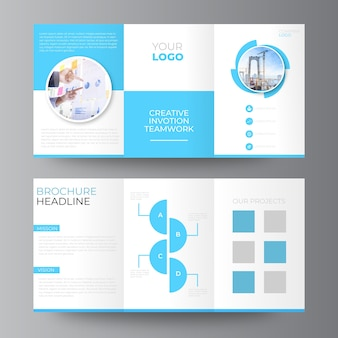 Tri-fold biznesowy projekt broszury