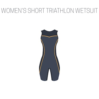 Triathlon damski krótki kombinezon bez rękawów
