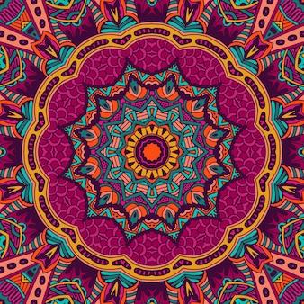 Tribal art boho bezszwowy wzór etniczny geometryczny nadruk