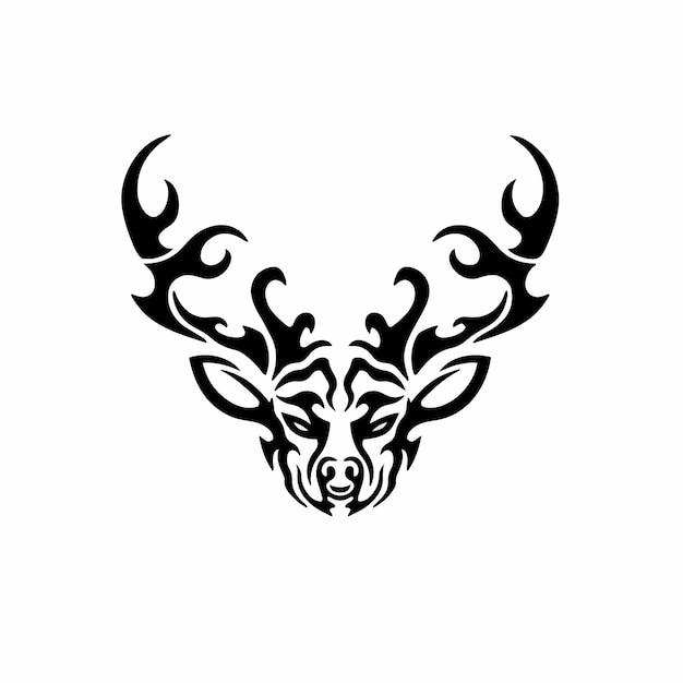 Tribal deer logo tattoo design wzornik ilustracji wektorowych