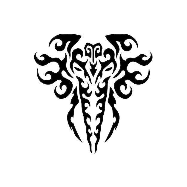 Tribal elephant logo tattoo design wzornik ilustracja wektorowa