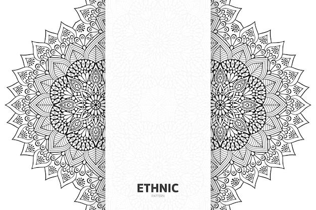 Tribal etniczny wzór semless projekt mandali