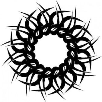 Tribal okrągły tatoo