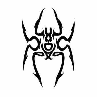 Tribal spider head logo tattoo design wzornik ilustracji wektorowych