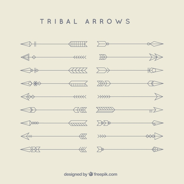 Tribal strzały