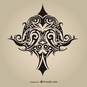 Tribal tatuaż projekt asbtract