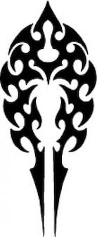 Tribal tatuaż szablon strzałka kształt vector icon