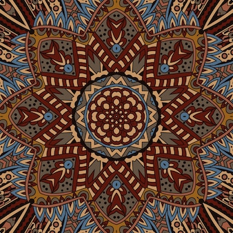 Tribal vintage etniczny bezszwowy wzór jesień geometryczny ozdobny wzór