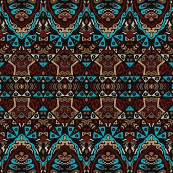 Tribal vintage streszczenie etniczne bezszwowe wzór geometryczny ozdobnych. azjatycki wzór haftu w paski