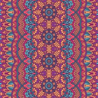 Tribal vintage streszczenie etniczne bezszwowe wzór geometryczny ozdobnych. indyjskie bary projektowanie tekstyliów