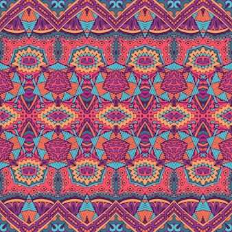 Tribal vintage streszczenie geometryczny etniczny wzór bezszwowe ozdobne