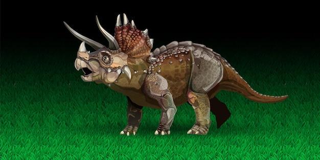 Triceratops to rodzaj roślinożernego dinozaura ceratopsida, który żył w późnym stadium mastrychtu...