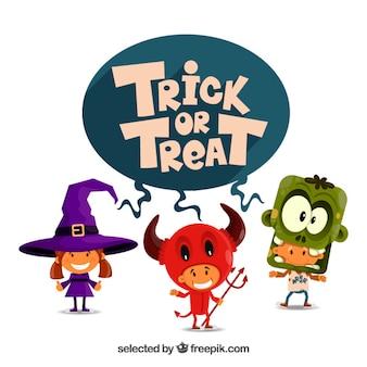 Trick or treat ilustracji