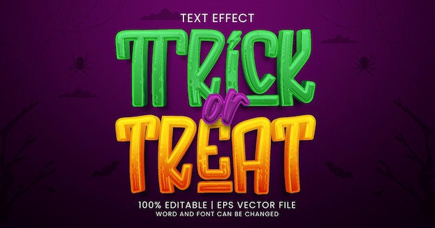 Trick or treat tekst, styl efektu tekstowego z horrorem