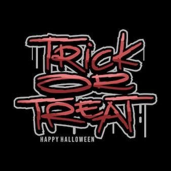 Trick or treat wektor tekstu projektu
