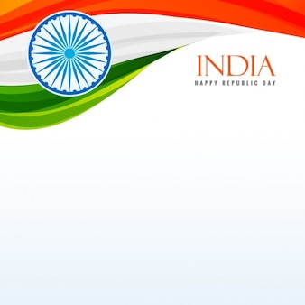 Tricolor indyjskiej flagi w tle